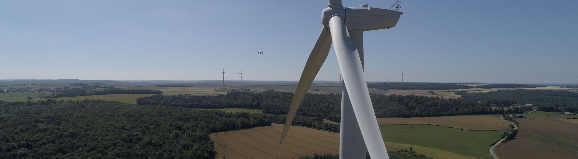 Inspection réseau électrique EDF éolienne